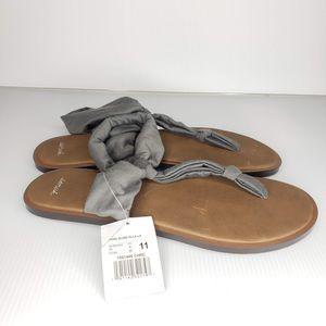 New Sanuk 11 Gray Sling ELLA Sandals